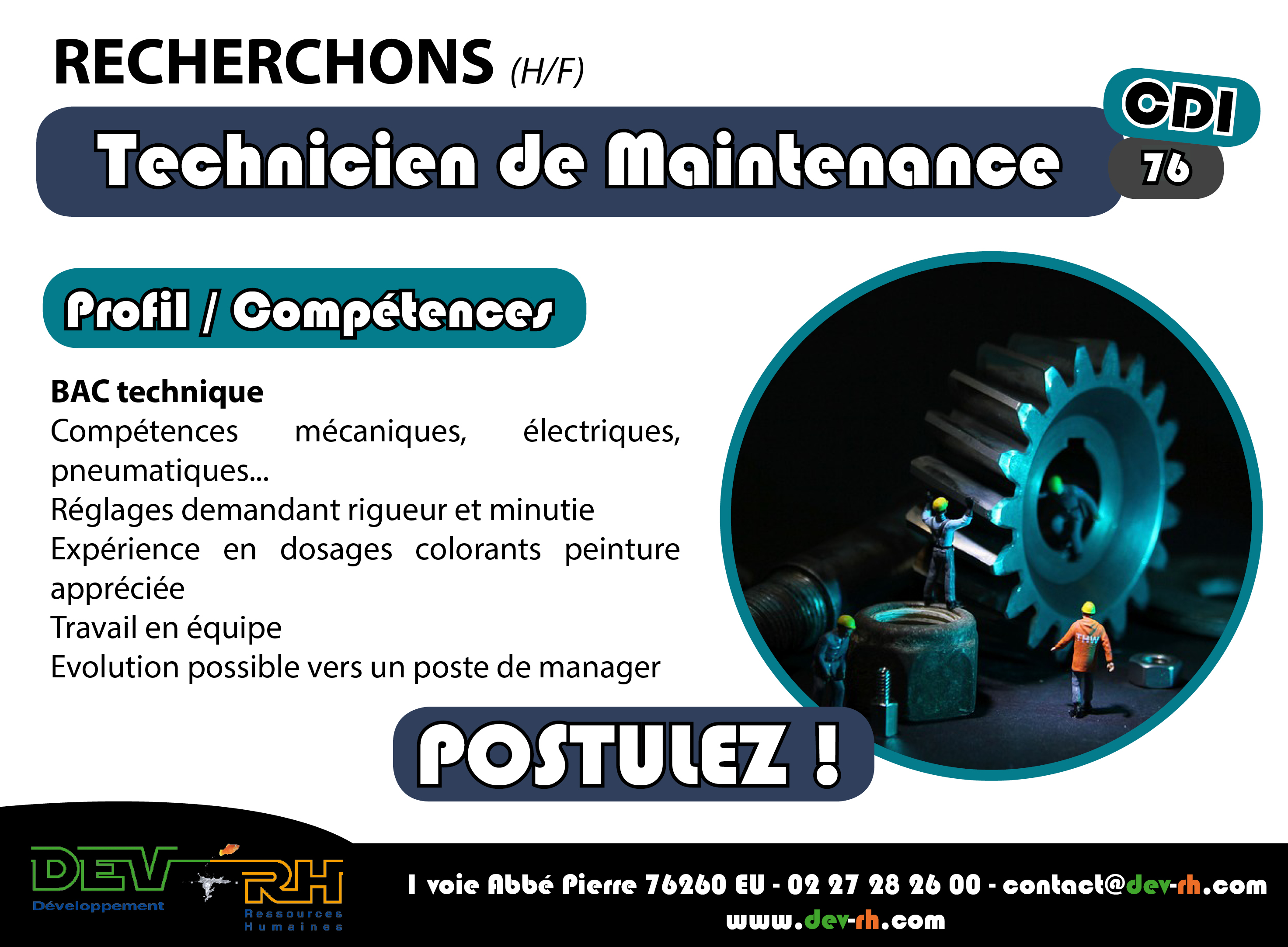 technicien de maintenance  h  f  en cdi