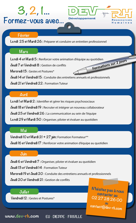 calendrier de formations